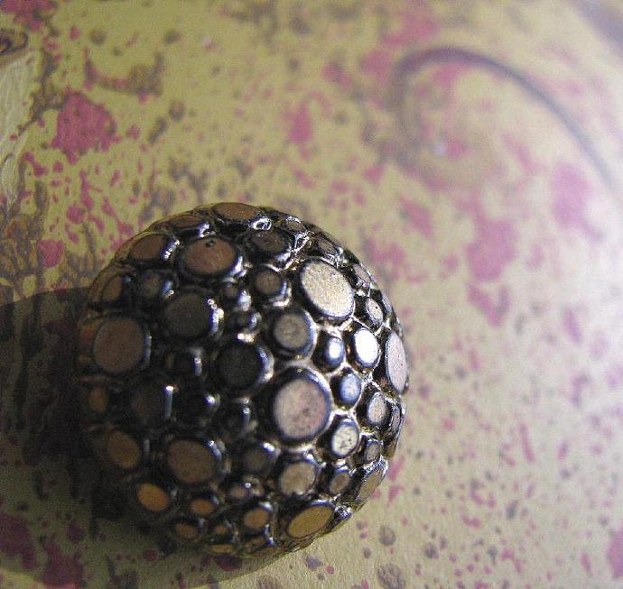 Gold Tone Vintage and Antique Metal Buttons Packet of 11