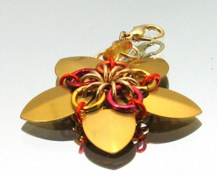 Splendor Chainmaille Flower Charm