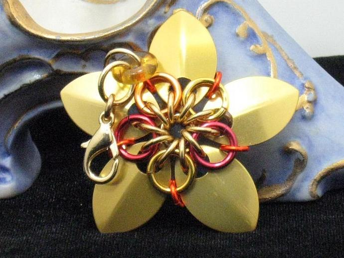 Splendor Chainmaille Flower Charm