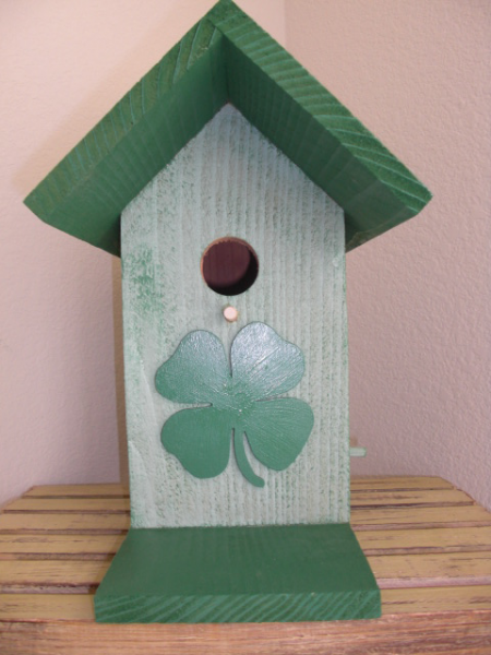 Birdhouse -  Lucky Four Leaf Clover