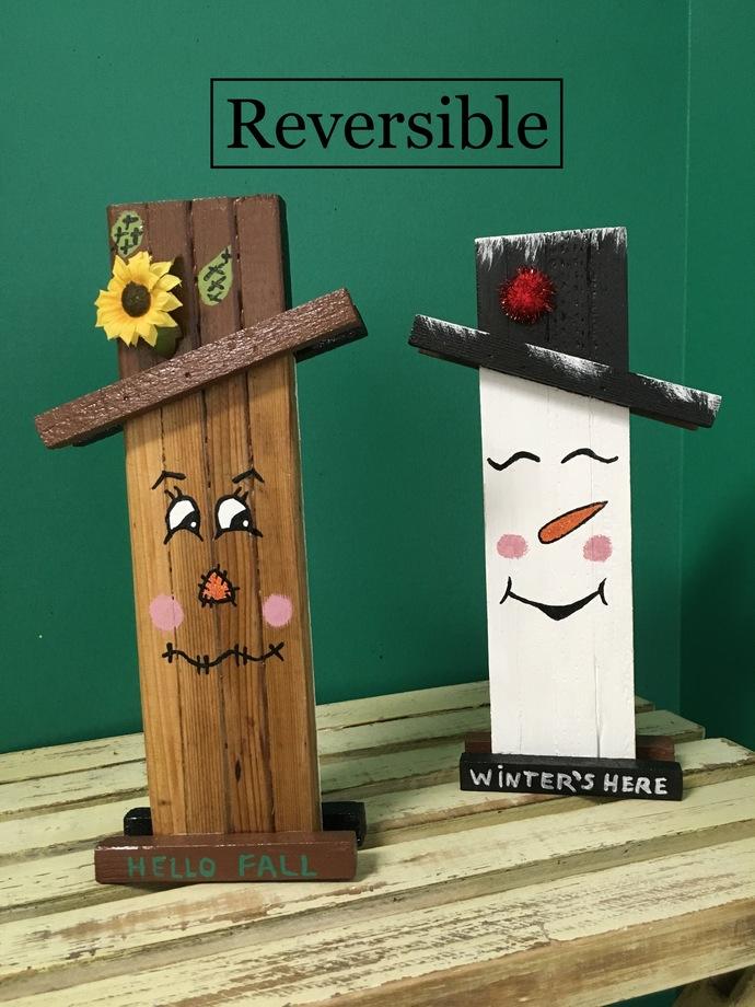 Reversible Scarecrow / Snowman