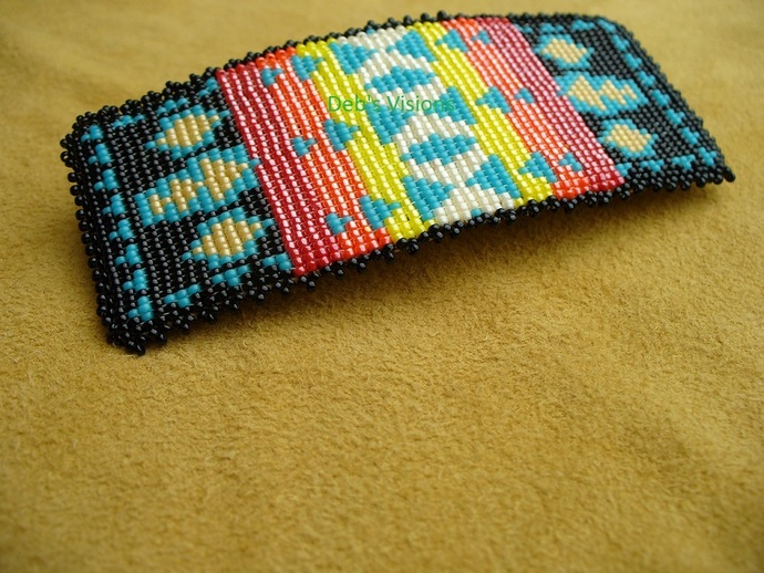 Native American Style Loom/Square Stitched Pendleton Cheif Joseph Style Beaded