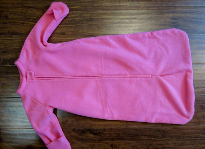"Up to 34"" custom made fleece sleep sack to fit your child. You choose length,"