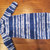 "Up to 31"" custom made blue/white fleece sleep sack to fit your child. You choose"