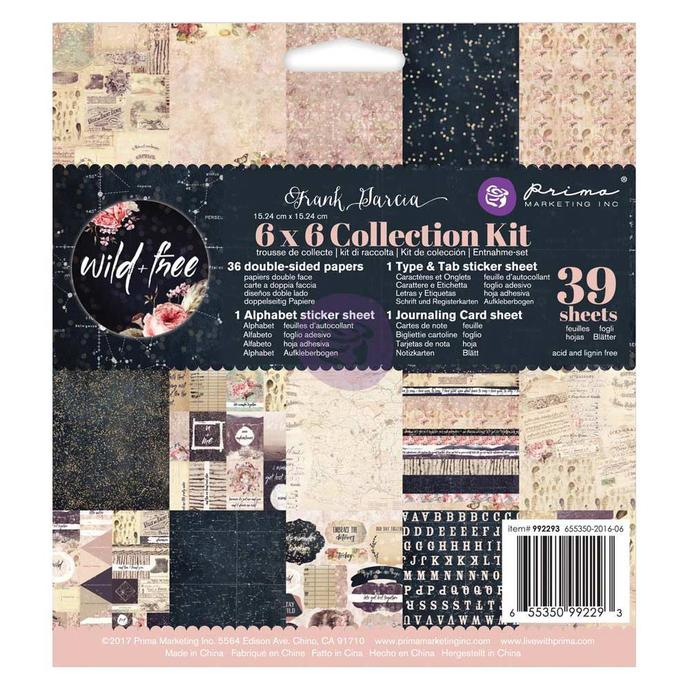 "Prima Marketing Wild & Free Collection Kit 6""X6"""