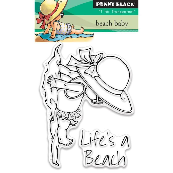 "Penny Black Beach Baby Clear Stamps 3""X4"""