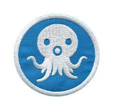 Octopus Iron On Patch 2 inches