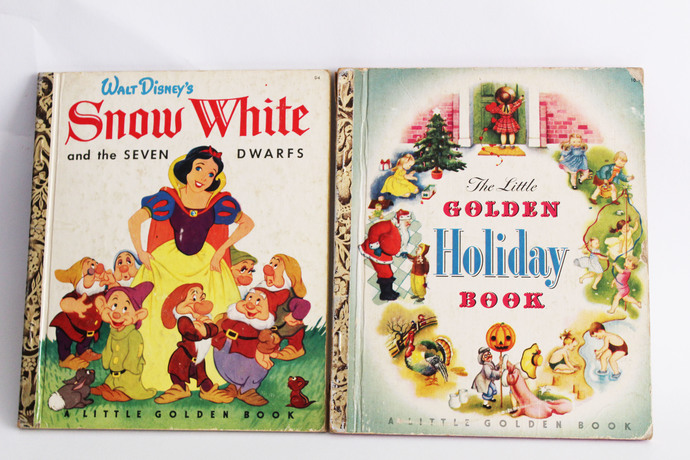 A Set of Three Vintage Little Golden Books- Walt Disney's Snow White and the