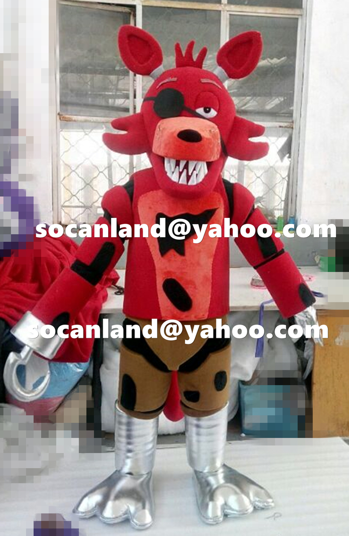 Fnaf Foxy Pirate Mascotfnaf Foxy By Cartoonmascotcostume On Zibbet