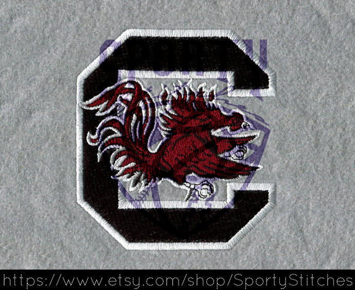 Football Embroidery Designs (gamecocks) 6x9 - Instant Download