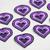 Hmong Embroidery Purple Heart Pattern Fabric Decoration