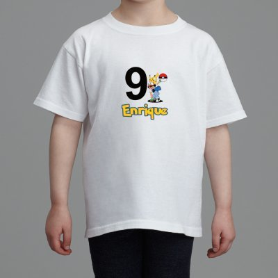 cbeea44a Pokemon Birthday T-shirt - Personalized by okprintables on Zibbet