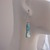 Tonga earrings, Blue shell earrings, sea blue earrings, drop earrings, dangle