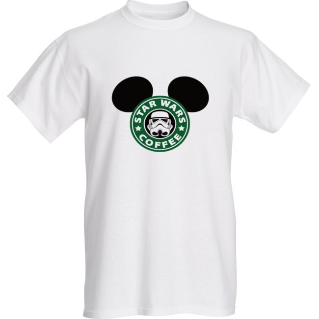 Mickey Star Wars Coffee- Unisex Adults - T-shirts