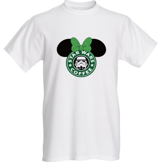 Minnie Star Wars Coffee- Unisex Adults - T-shirts