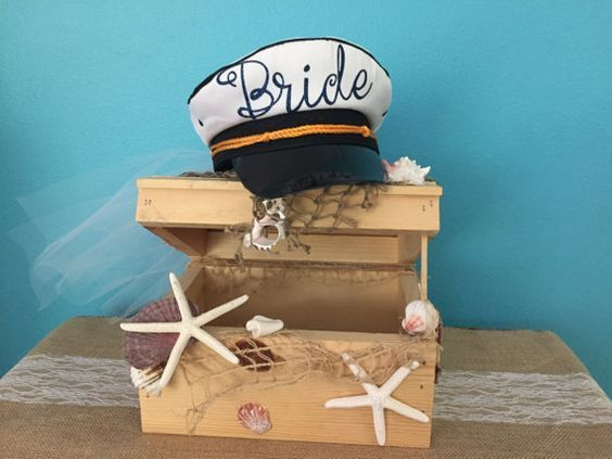 Nautical Bride Sailor Hat with Veil, Nautical bride hat, sailor cap with veil,