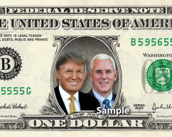 59d3f8dd523 Donald Trump & Mike Pence on a REAL Dollar Bill Money Cash Collectible  Memorabilia Cash
