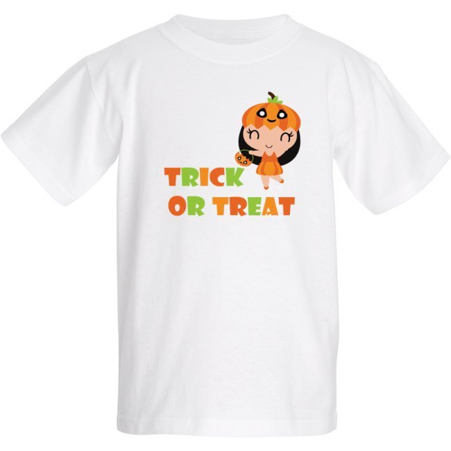 Trick or Treat Halloween - Pumpkin girl - Kids T-shirt