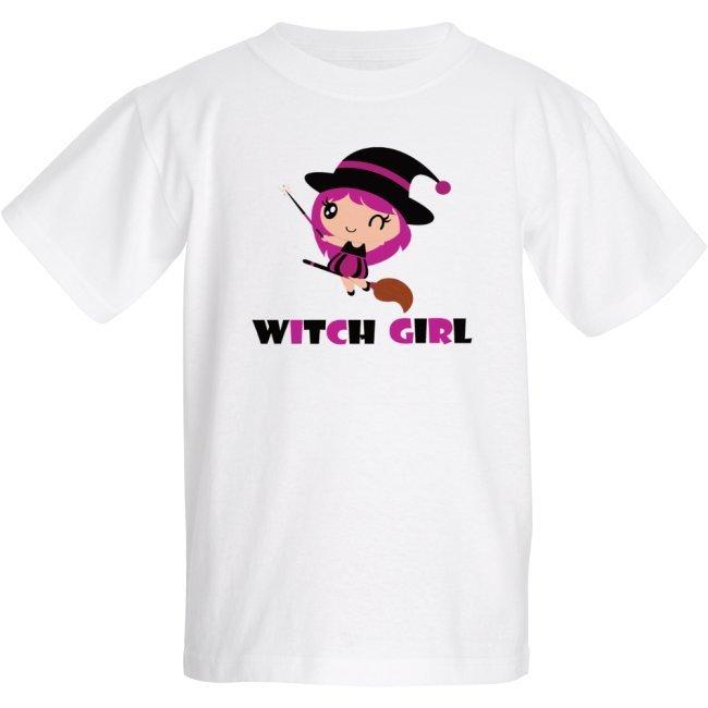 Cute witch girl Halloween - Kids T-shirt