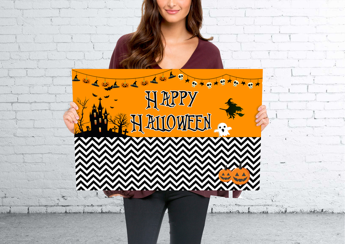 Happy Halloween Printed Poster- 24x36