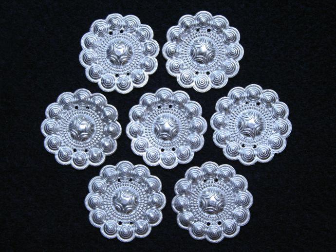 33 mm • 2 pcs • Traditional Thai Hmong Round Decoration Plates