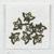 7 pcs • 20x15 mm • Butterfly Brass Charm