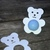 Teddy Bear eos Lip Balm  Holders / Set of 12 - Baby Shower Favor - Boy / Girl