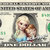 Young ELSA & ANNA on REAL Dollar Bill Frozen Disney Cash Money Collectible