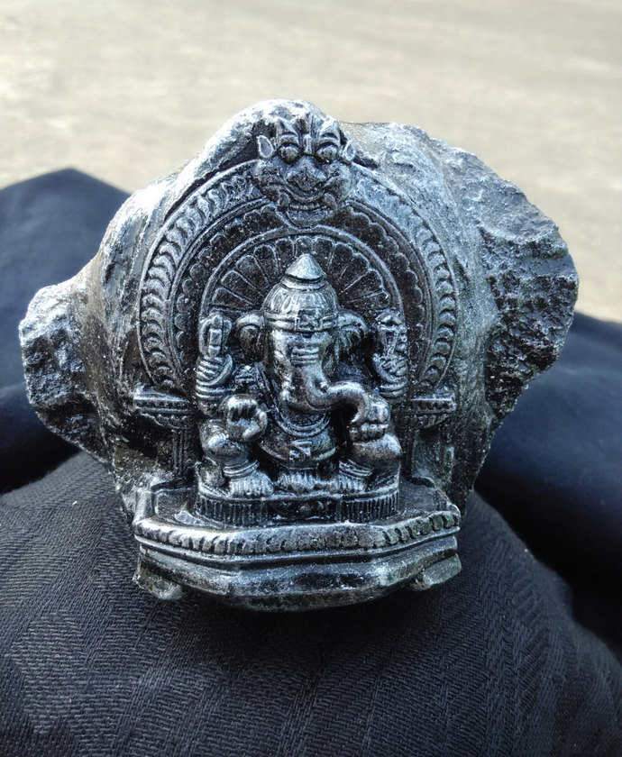 Blessing Stone sculpture - Lord Ganesha - Figure-Statue home decor art piece
