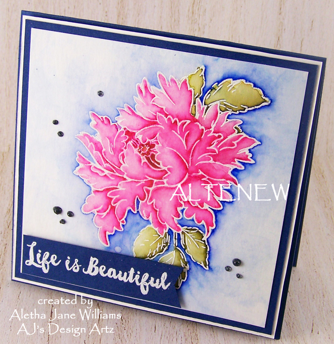 Life is Beautiful Handmade Handcrafted Art Greeting Card by ajsdesignartz