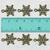 10 pcs • 15x20 mm • Small Snowflake Brass Charm