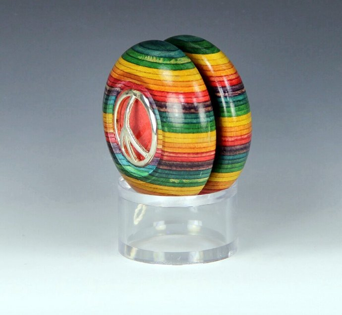 Tom Kuhn / BC Rainbow Maple Imperial YoYo: One-Of-A Kind, Customized by