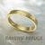 18k gold wedding ring -- 3mm wedding band, hand hammered
