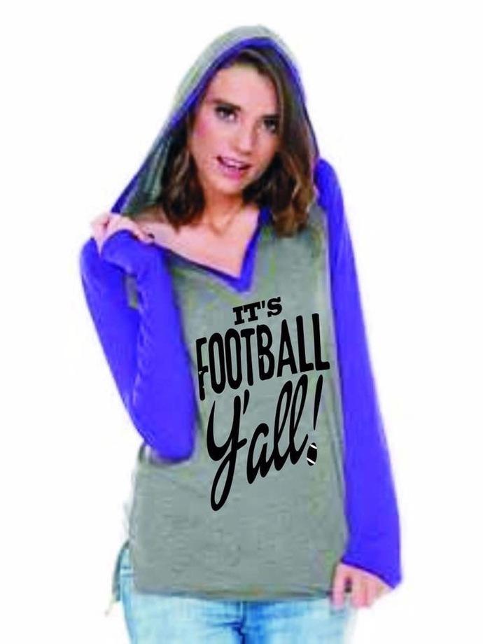 It's Football Y'all 3/4 sleeve