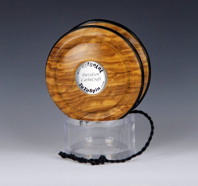 Handmade Toy YoYo, Fixed Axle Imperial...Roman Olive Wood