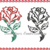 Rose 2 versions, Fill design 5x7 digital embroidery files