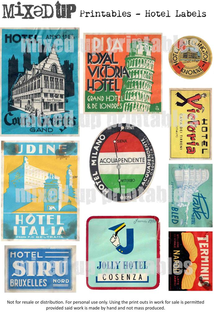 Mixed Up Magazine's Hotel Labels