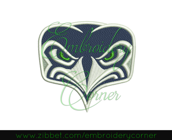 Football Machine Embroidery Designs (seahawks) 4x4 - Instant Download