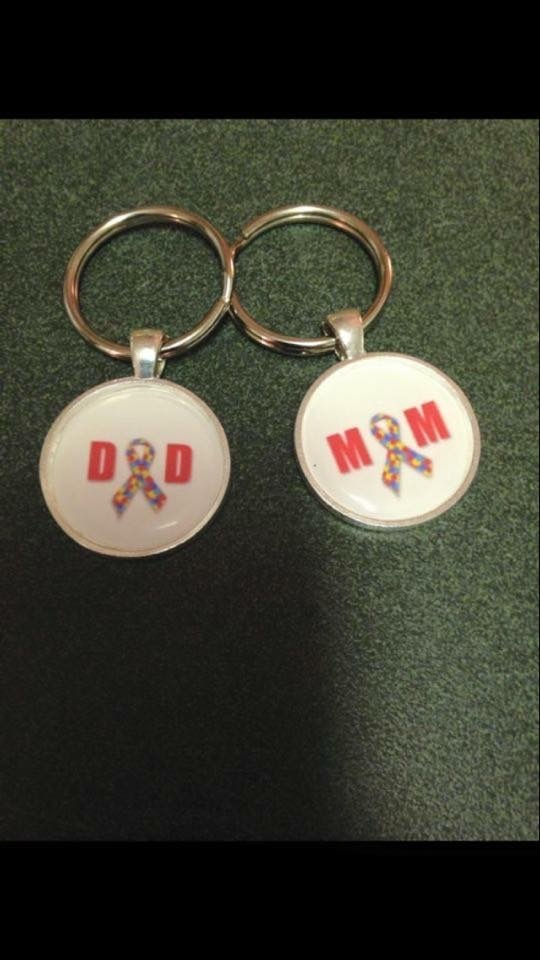 Autism Keychain for mom or dad