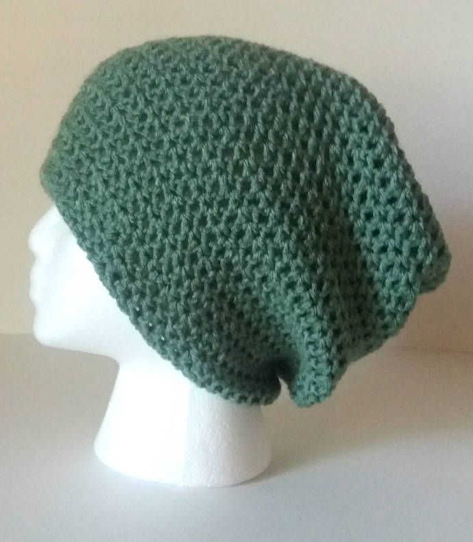 e7af2faa049 Sage Green Slouchy Hat   Womens by Bekscrochetboutique on Zibbet