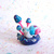 Snail and mushrooms figurine. One of a kind