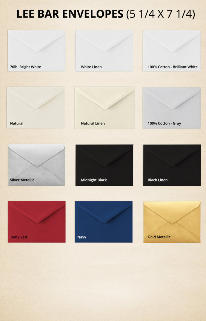 Lee BAR Envelopes 5 1 4 X 7 Pick