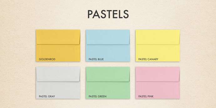 a6 invitation envelopes 4 3 4 x 6 1 2 pastels by luxpaper on