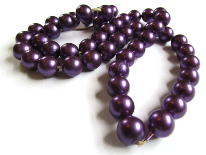 10mm Purple Pearls Faux Pearl Beads Plastic Pearls Fake Pearls Round Pearls