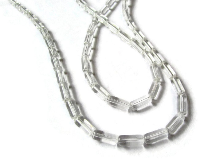 10mm Tube Beads Clear Colorless Bead Glass Beads Transparent Beads Jewelry