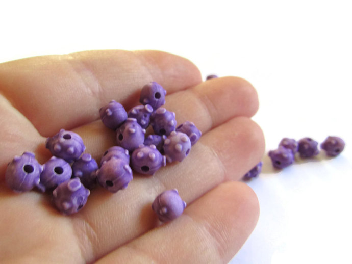 75 8mm Purple Pigs Farm Animal Beads Plastic Beads Pig Beads Acrylic Beads Small