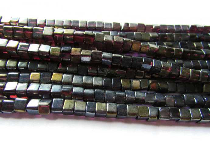 5mm Black Crystal Cube Beads AB Finished Jewelry Making Beading Supplies Full