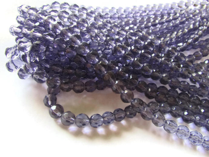 6mm Round Crystal Beads Lavender Purple Beads Crystal Glass Beads Full Strand