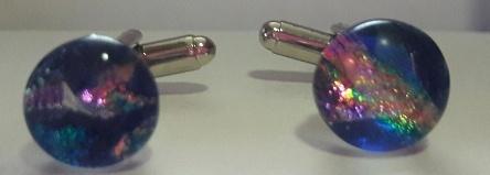 Dichroic Glass Galaxy Theme CuffLinks