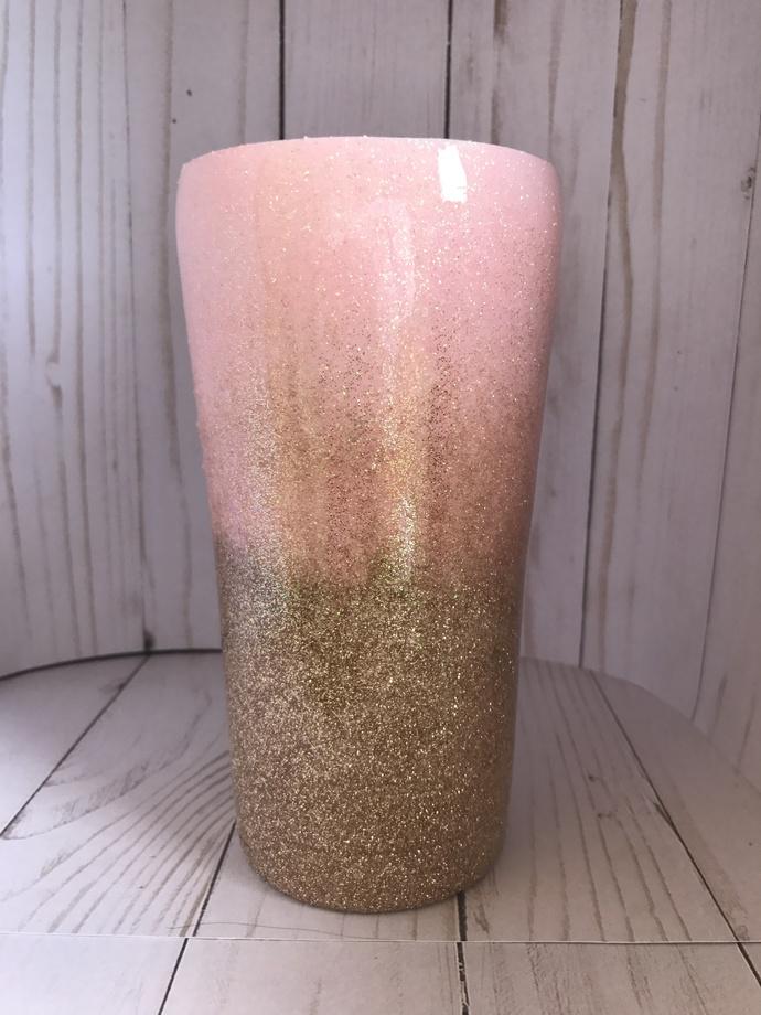 20 oz Ombre Glitter Tumbler